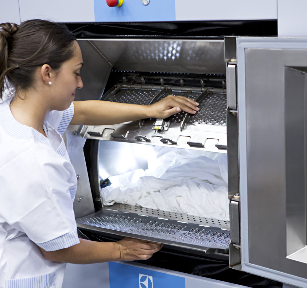 industrial laundry equipment barrier washer